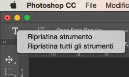 Come ripristinare le opzioni degli strumenti di Photoshop