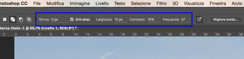 Parametri opzioni Strumento Lazo magnetico Photoshop