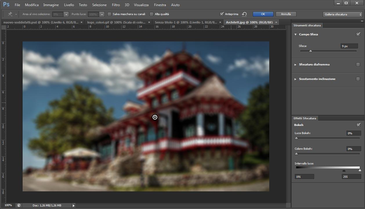 Filtro sfocatura Photoshop