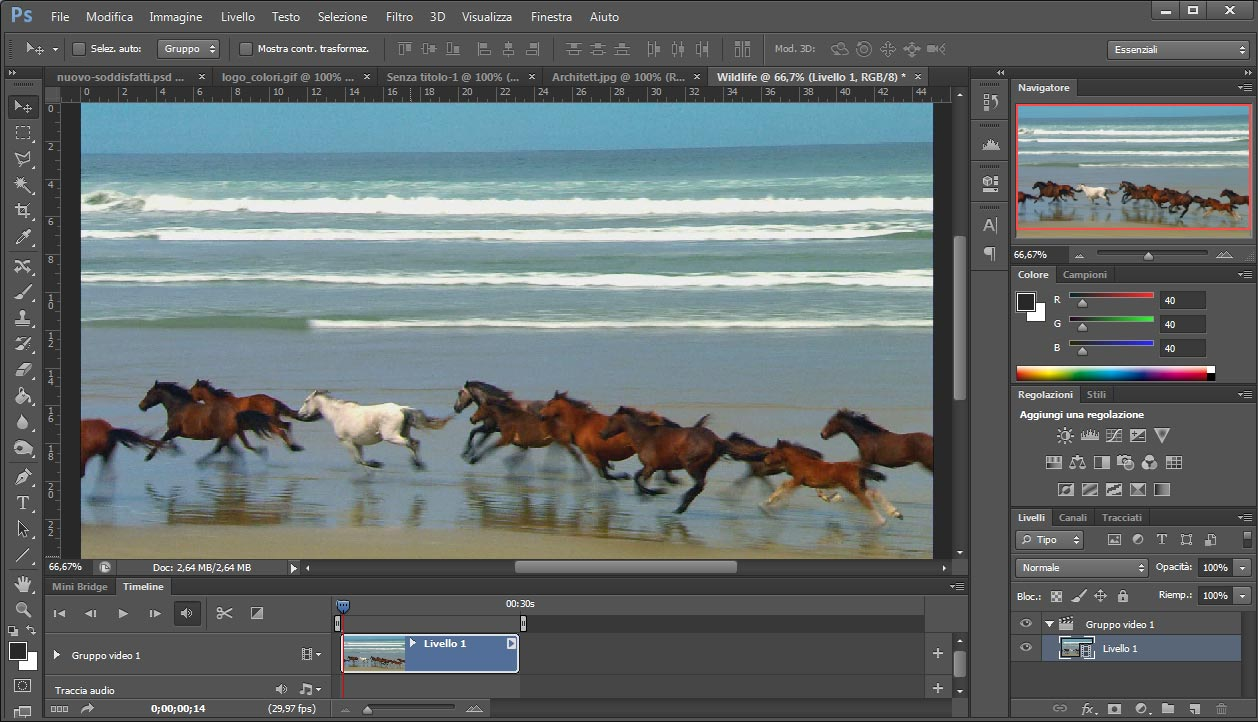 Come aprire video con Photoshop