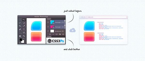 CSS3Ps - Plugin per creare Codice CSS dai livelli Photoshop