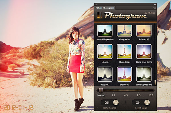 Applicare effetti Instagram su foto con Adobe Photoshop - Plugin Photogram