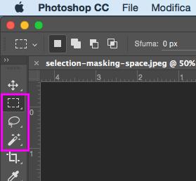 Gli strumenti selezione di Photoshop
