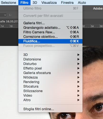 Filtro fluidifica - Photoshop