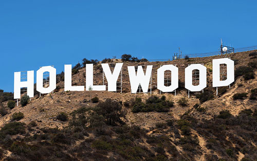 Font scritta Hollywood