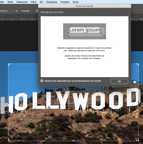 Riconosci font - importa da Typekit
