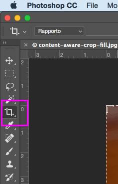 Lo strumento Taglierina di Photoshop